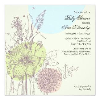 Wild Flowers Baby Shower Invitation