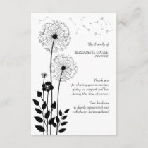 Wild Flowers Bereavement Thank You Card