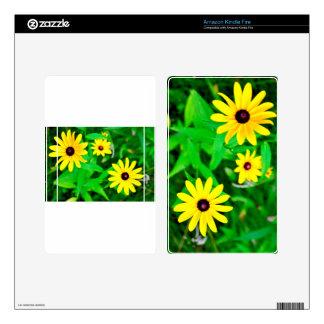 wild flowers black-eye susan yellow kindle fire decal