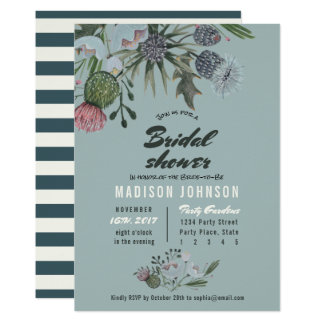 Wild Flowers | blue | Bridal Shower Invitations