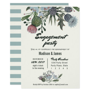 Wild Flowers | blue | Engagement Party Invitations