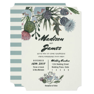 Wild Flowers Bouquet | blue | Wedding Invitations