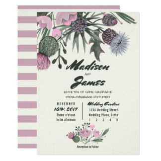 Wild Flowers Bouquet | pink | Wedding Invitations