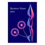 Wild Flowers Business Profile Card Template Large Business Cards (Pack Of 100)