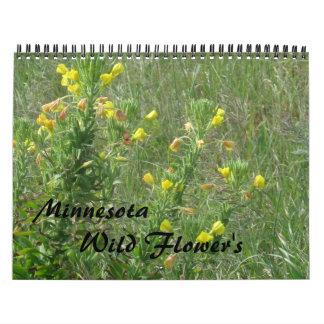 Wild flowers calendar
