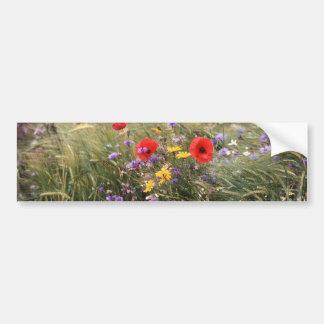 Wild flowers car bumper sticker