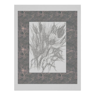 Wild Flowers Charcoal Mulberry Letterhead