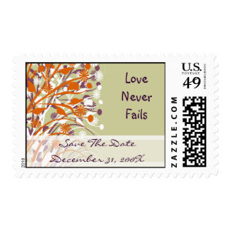 Wild  Flowers Christian Wedding Save the Date Postage