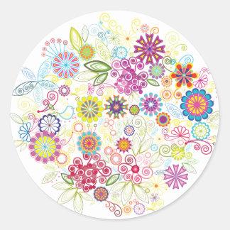 Wild Flowers Classic Round Sticker