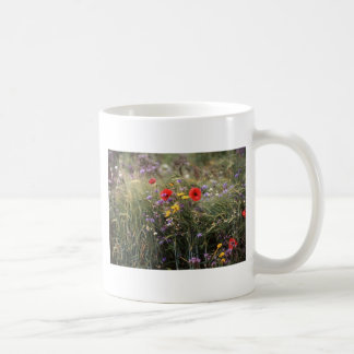 Wild flowers classic white coffee mug