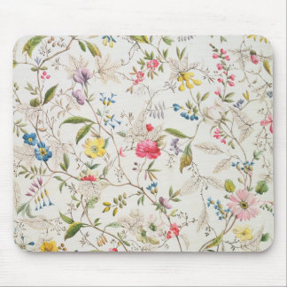 Wild flowers design for silk material, c.1790 (w/c mouse pad