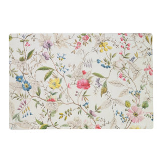 Wild flowers design for silk material, c.1790 (w/c placemat