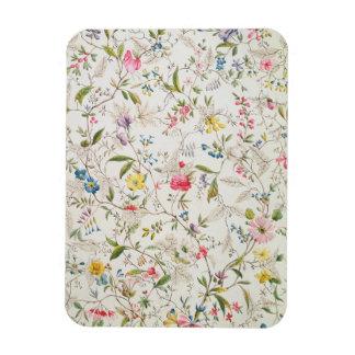 Wild flowers design for silk material, c.1790 (w/c rectangular photo magnet
