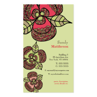 Wild Flowers Illustrated Designer Business Card