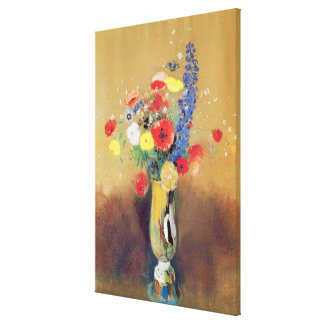 Wild flowers in a Long-necked Vase, c.1912 Canvas Print