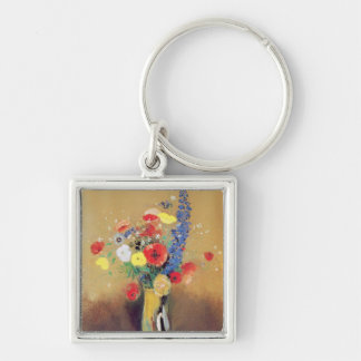 Wild flowers in a Long-necked Vase c 1912 Key Chains