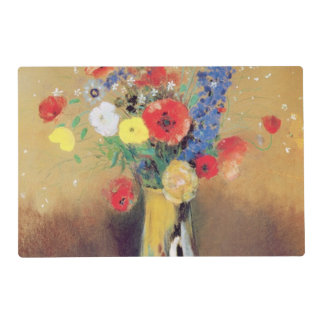 Wild flowers in a Long-necked Vase, c.1912 Laminated Placemat