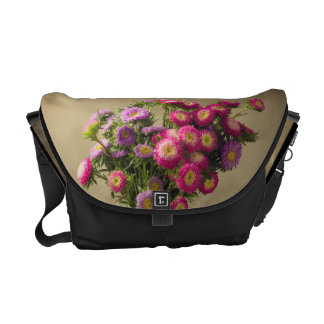 Wild Flowers in a Vase Bag Tote Purse Courier Bag