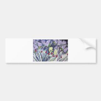 Wild flowers in spring bumper sticker