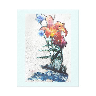 Wild Flowers jjhelene Wrapped Canvas