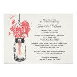 Wild flowers & Mason Jar Bridal Shower Personalized Invites