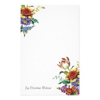 Wild Flowers of Spring Vintage Chic Floral Stationery