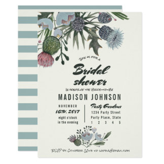 Wild Flowers pale blue | Bridal Shower Invitations