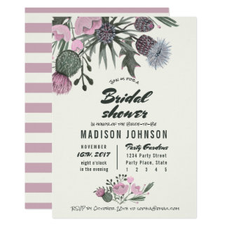 Wild Flowers pale pink | Bridal Shower Invitations