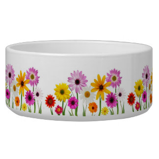 Wild flowers pet food bowls