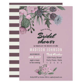 Wild Flowers | pink | Bridal Shower Invitations