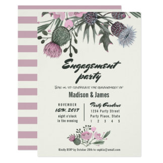 Wild Flowers | pink | Engagement Party Invitations