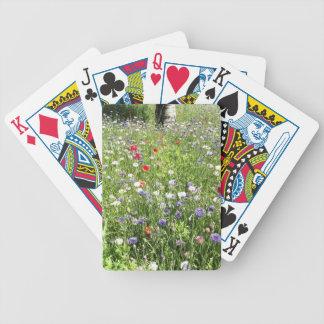 Wild flowers poker cards