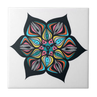 wild flowers: psycho colored tile