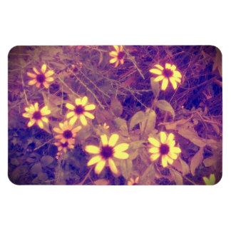 Wild Flowers Purple Halo Rectangle Magnets