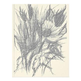 Wild Flowers Sketch Letterhead