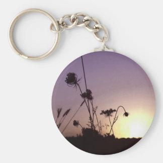 Wild Flowers Sunset Keychain