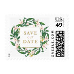 Wild Flowers Thank You Postage Stamp