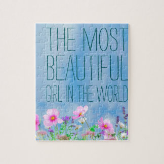 Wild Flowers The Most beautiful Girl In The World Jigsaw Puzzle
