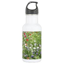 Wild flowers water bottle