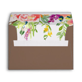 Wild Flowers Wedding Invitation Envelope