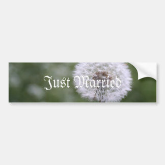Wild Flowers Wedding Invitations and Favors Bumper Sticker