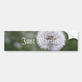 Wild Flowers Wedding Invitations and Favors Car Bumper Sticker