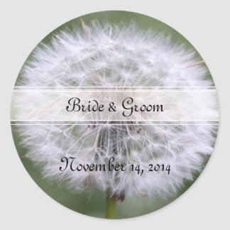 Wild Flowers Wedding Invitations and Favors Classic Round Sticker