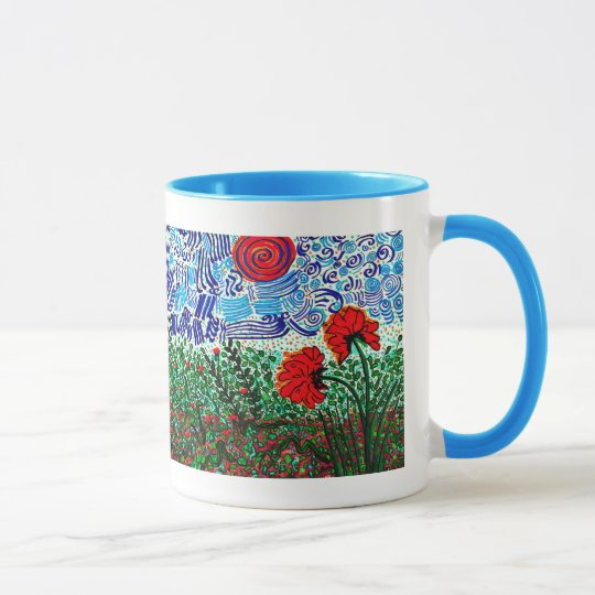Wild Flowers Wild Sky Coffee Mug