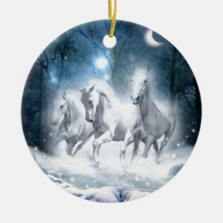 Wild Flurry Ceramic Ornament