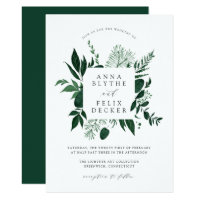 Wild Forest Frame Wedding Invitation