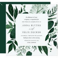 Wild Forest Wedding Invitation | Square