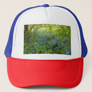 Wild forge me nots flowers photo trucker hat