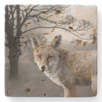 Wild Fox Photography Stone Coaster