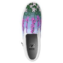Wild Foxglove & Columbine Floral by Aleta Slip-On Sneakers